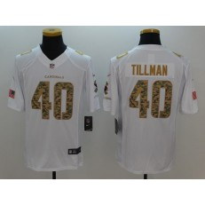 Arizona Cardinals #40 Pat Tillman White Salute to Service Limited Nike NFL Jersey