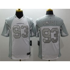 Arizona Cardinals #93 Calais Campbell White Nike Stitched NFL Limited Platinum Jersey