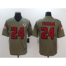 Atlanta Falcons #24 Devonta Freeman Olive 2017 Salute To Service Limited Nike NFL Jersey
