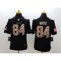 Atlanta Falcons #84 Roddy White Black Limited Salute to Service Stitched NFL Jersey