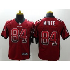 Atlanta Falcons #84 Roddy White Red Drift Fashion Nike NFL Elite Jersey