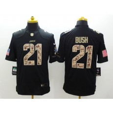 Detroit Lions #21 Ameer Abdullah Black Men Stitched Nike NFL Limited Salute to Service Jersey