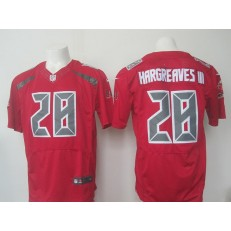Tampa Bay Buccaneers #28 Vernon Hargreaves III Nike Red Color Rush 2015 NFL Elite Jersey