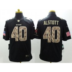 Tampa Bay Buccaneers #40 Mike Alstott Anthracite 2016 Salute to Service Limited NFL Jersey