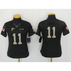 Women Nike Atlanta Falcons #11 Julio Jones Anthracite 2016 Salute to Service NFL Jersey