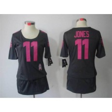Women Nike Atlanta Falcons #11 Julio Jones Breast Cancer Awareness Gray Jersey