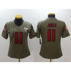 Women Nike Atlanta Falcons #11 Julio Jones Olive 2017 Salute To Service Limited Jersey