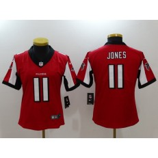 Women Nike Atlanta Falcons #11 Julio Jones Red 2017 Vapor Untouchable Stitched NFL Limited Jersey