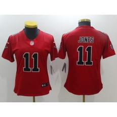Women Nike Atlanta Falcons #11 Julio Jones Red Color Rush NFL Jersey