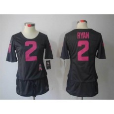 Women Nike Atlanta Falcons #2 Matt Ryan Breast Cancer Awareness Gray Jersey