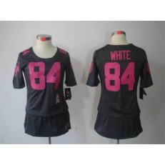 Women Nike Atlanta Falcons #84 Roddy White Breast Cancer Awareness Gray Jersey