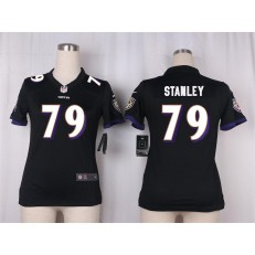 Women Nike Baltimore Ravens #79 Ronnie Stanley Game Black Alternate NFL Jersey