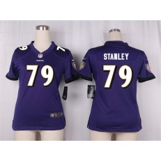 Women Nike Baltimore Ravens #79 Ronnie Stanley Game Purple Team Color NFL Jersey