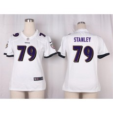 Women Nike Baltimore Ravens #79 Ronnie Stanley Game White NFL Jersey