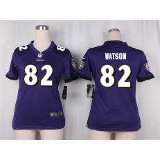 Women Nike Baltimore Ravens #82 Benjamin Watson Game Purple Team Color NFL Jersey