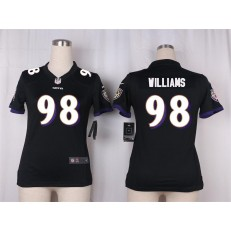 Women Nike Baltimore Ravens #98 Brandon Williams Game Black Alternate NFL Jersey