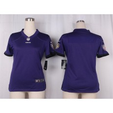 Women Nike Baltimore Ravens Blank Game Purple Team Color NFL Jersey