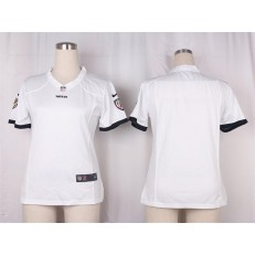 Women Nike Baltimore Ravens Blank Game White NFL Jersey
