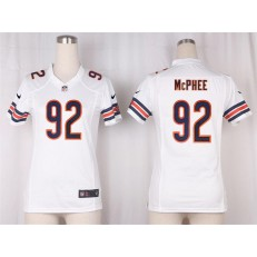 Women Nike Chicago Bears #92 Pernell McPhee Game White NFL Jersey