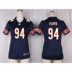 Women Nike Chicago Bears #94 Leonard Floyd Game Navy Blue Team Color NFL Jersey