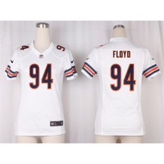 Women Nike Chicago Bears #94 Leonard Floyd Game White NFL Jersey