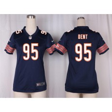 Women Nike Chicago Bears #95 Richard Dent Game Navy Blue Team Color NFL Jersey