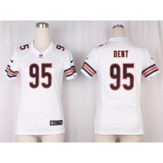 Women Nike Chicago Bears #95 Richard Dent Game White NFL Jersey