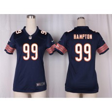 Women Nike Chicago Bears #99 Dan Hampton Game Navy Blue Team Color NFL Jersey