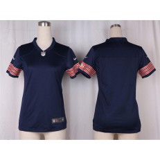 Women Nike Chicago Bears Blank Game Navy Blue Team Color NFL Jersey