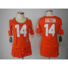 Women Nike Cincinnati Bengals #14 Andy Dalton Breast Cancer Awareness Orange Jersey