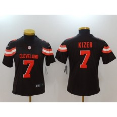 Women Nike Cleveland Browns #7 DeShone Kizer Brown Vapor Untouchable Limited NFL Jersey