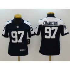 Women Nike Dallas Cowboys #97 Taco Charlton Navy Throwback Vapor Untouchable Limited NFL Jersey