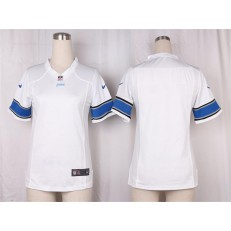 Women Nike Detroit Lions Blank Game White NFL Jersey