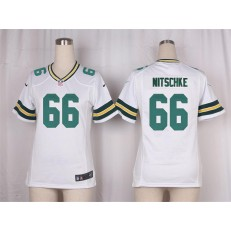Women Nike Green Bay Packers #66 Ray Nitschke Game White NFL Jersey