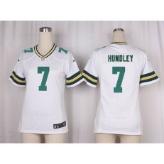 Women Nike Green Bay Packers #7 Brett Hundley Game White NFL Jersey