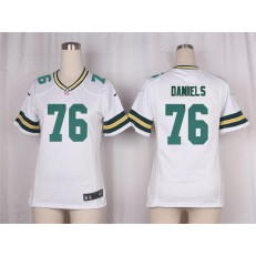 Women Nike Green Bay Packers #76 Mike Daniels Game White NFL Jersey