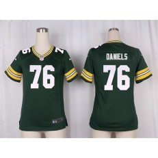 Women Nike Green Bay Packers #76 Mike Daniels Limited Green Team Color NFL Jersey