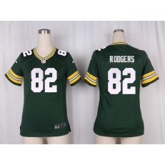 Women Nike Green Bay Packers #82 Richard Rodgers Game Green Team Color NFL Jersey
