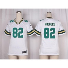 Women Nike Green Bay Packers #82 Richard Rodgers Game White NFL Jersey
