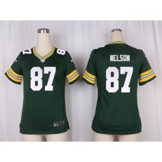 Women Nike Green Bay Packers #87 Jordy Nelson Game Green Team Color NFL Jersey