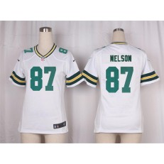 Women Nike Green Bay Packers #87 Jordy Nelson Game White NFL Jersey