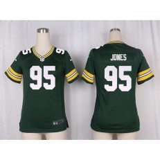 Women Nike Green Bay Packers #95 Datone Jones Game Green Team Color NFL Jersey