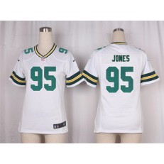 Women Nike Green Bay Packers #95 Datone Jones Game White NFL Jersey