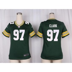 Women Nike Green Bay Packers #97 Kenny Clark Game Green Team Color NFL Jersey