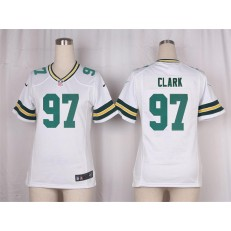 Women Nike Green Bay Packers #97 Kenny Clark Game White NFL Jersey