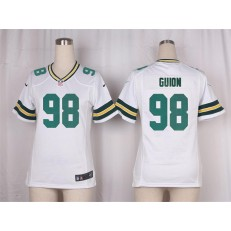 Women Nike Green Bay Packers #98 Letroy Guion Game White NFL Jersey