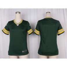 Women Nike Green Bay Packers Blank Game Green Team Color NFL Jersey