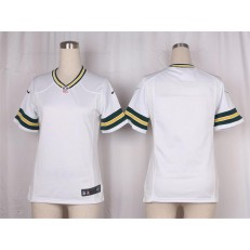 Women Nike Green Bay Packers Blank Game White NFL Jersey