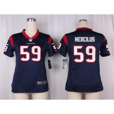 Women Nike Houston Texans #59 Whitney Mercilus Game Navy Blue Team Color NFL Jersey