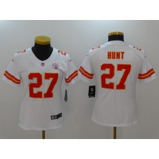 Women Nike Kansas City Chiefs #27 Kareem Hunt White Vapor Untouchable Limited NFL Jersey